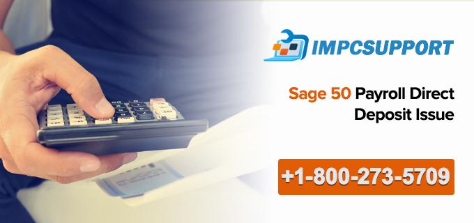 Sage 50 Payroll Direct Deposit Issue